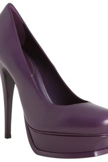 Yves Saint Laurent Violet Leather Tribute 105 Platform Pumps - Lyst