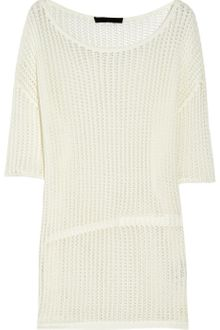 Alexander Wang Open-knit Cotton Sweater - Lyst