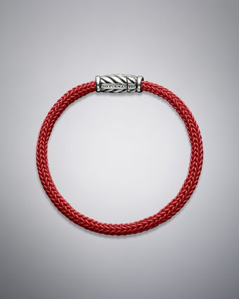 David Yurman Maritime Bracelet, Red Rubber - Lyst