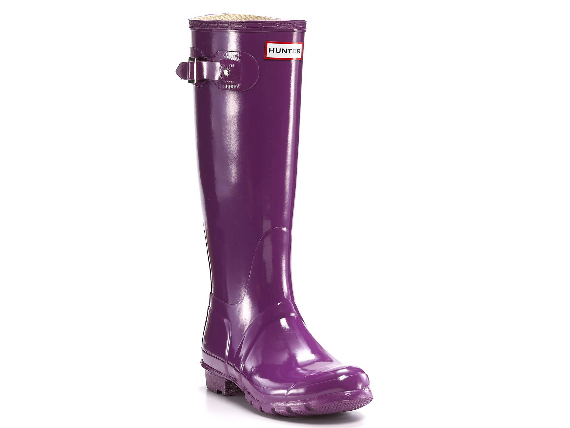 Hunter Womens Original Classic Glossy Rain Boots - Blackberry in ...