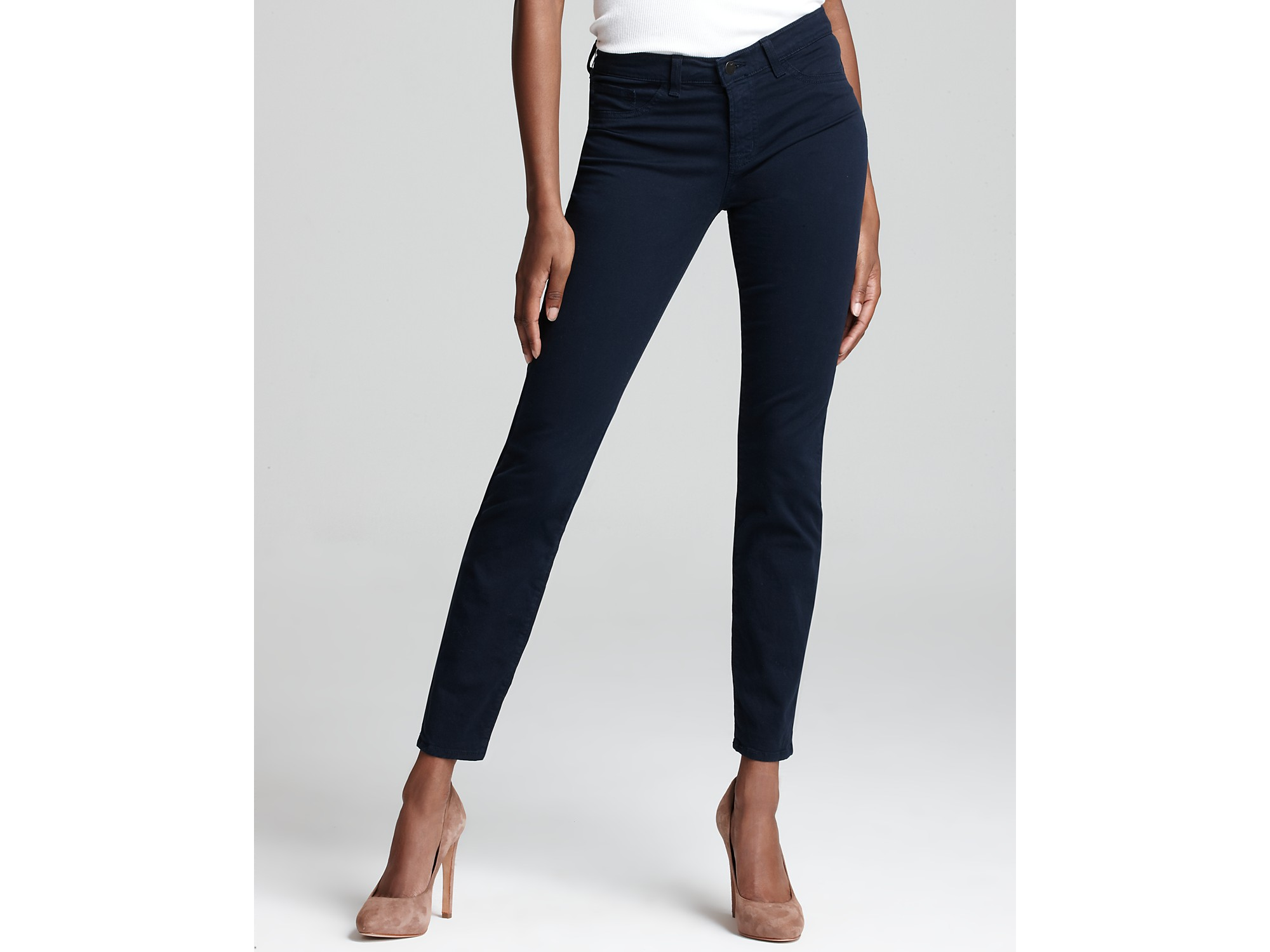 Free Shipping Best Prices Outlet Comfortable J Brand Woman Cotton-blend Twill Skinny Pants Navy Size 30 J Brand Wiki Online I1jdL2S5h