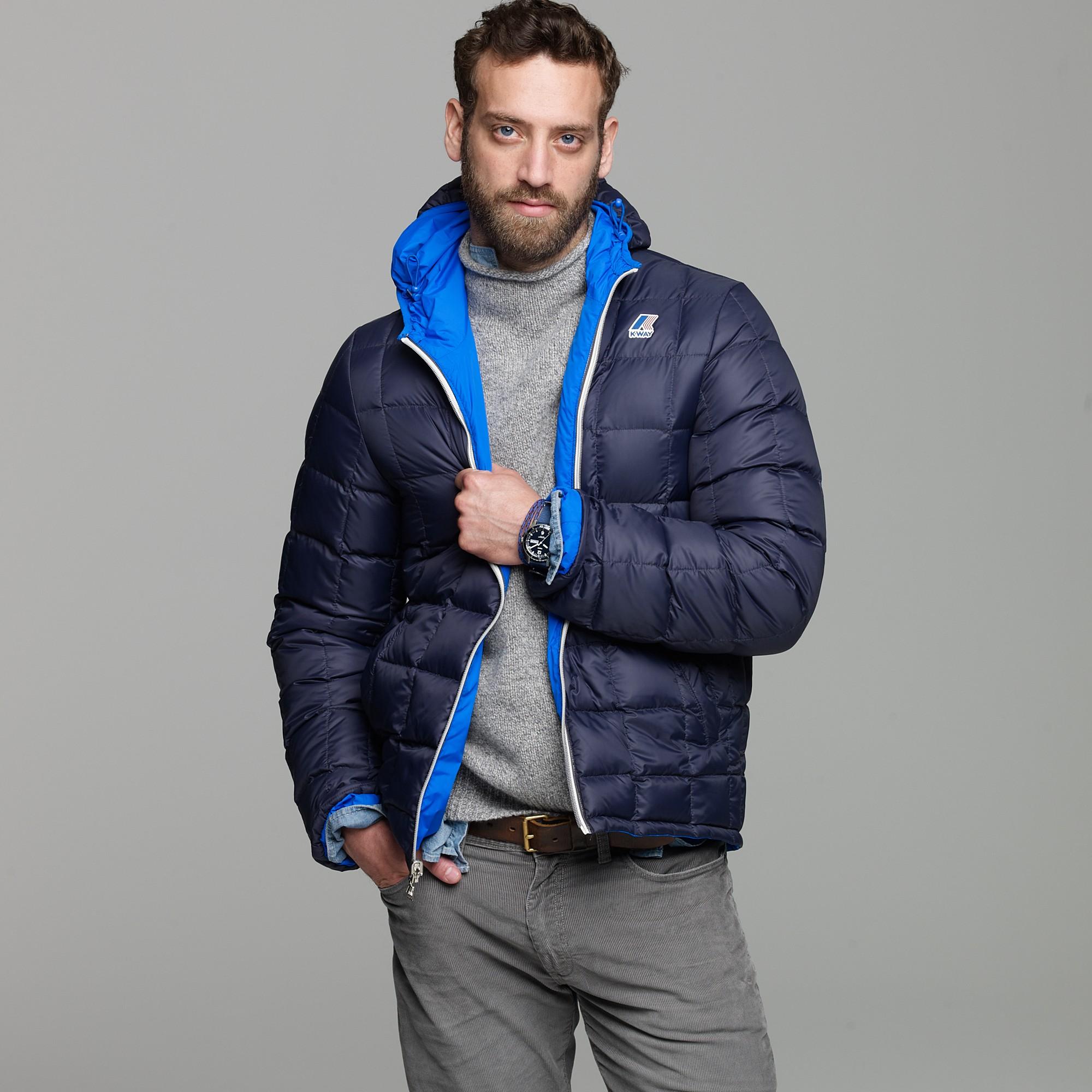 J.crew K-way® Reversible Down Jacket in Blue for Men | Lyst