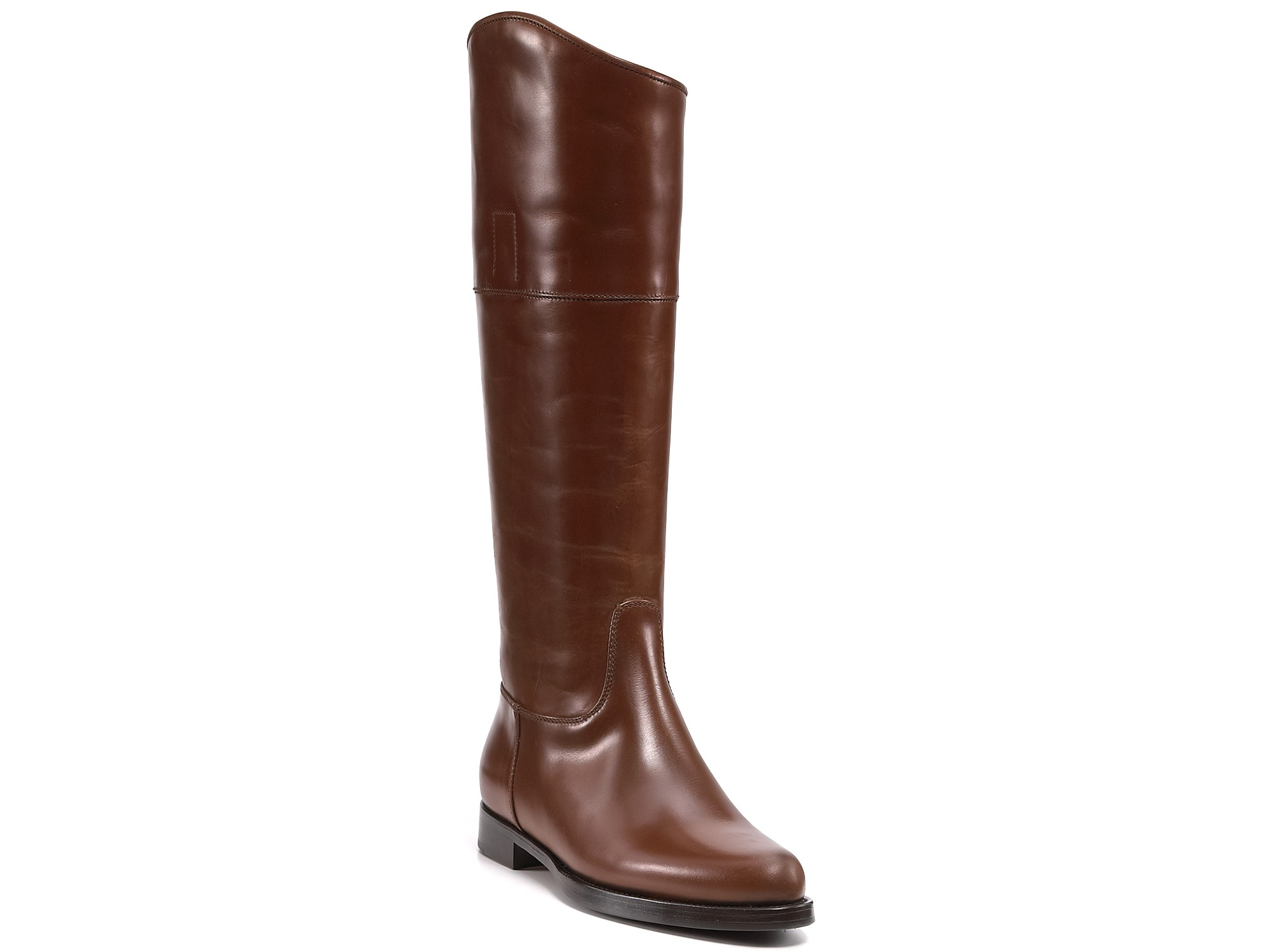 jil sander flat boots in brown lyst