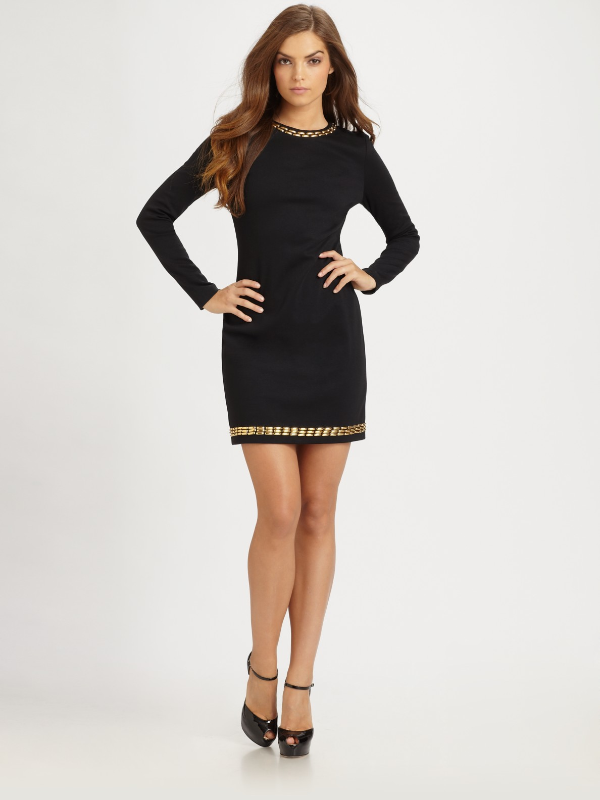 Model Little Black Dresses Pleated Jersey U0026 Draped | Nordstrom