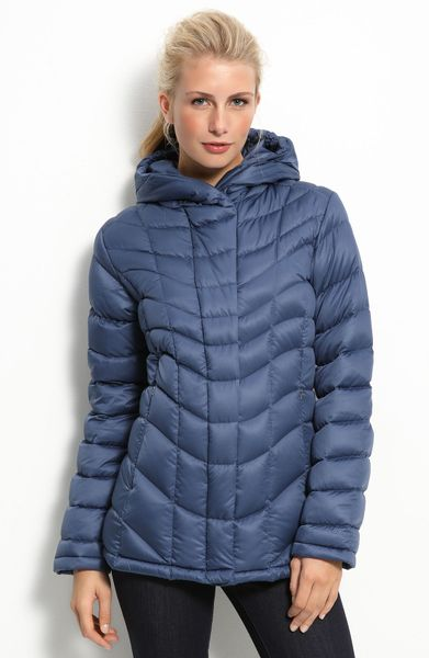 Patagonia Downtown Loft Hooded Down Jacket In Blue