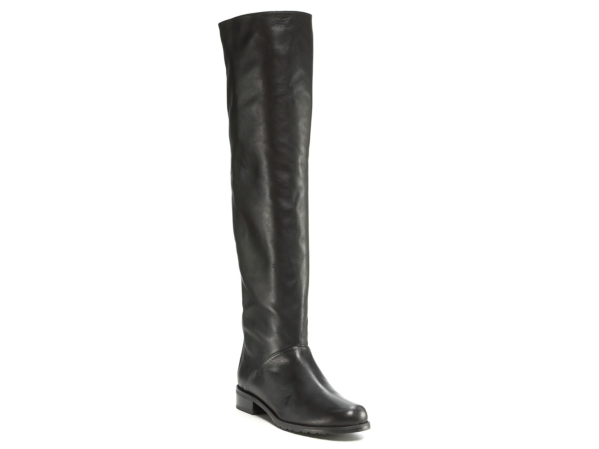1f21e8cb17f Stuart Weitzman Black Backtalk Tall Flat Boots