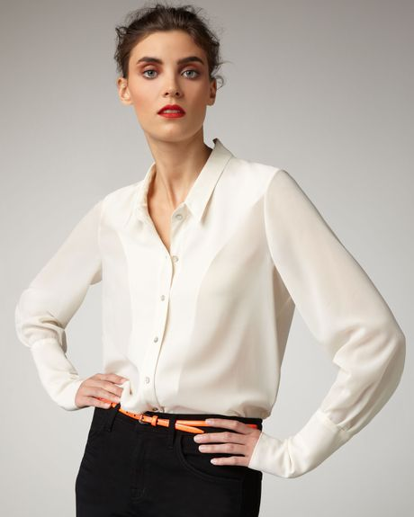 White Silk Blouse Macy'S 28