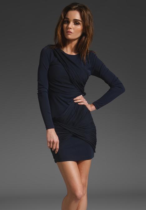 navy blue long sleeve dress | ivo hoogveld