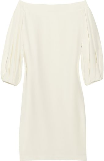 The Row Renton Silk-crepe Off-the-shoulder Dress - Lyst