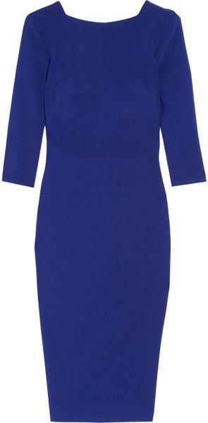 Antonio Berardi Stretch-crepe Dress in Blue - Lyst