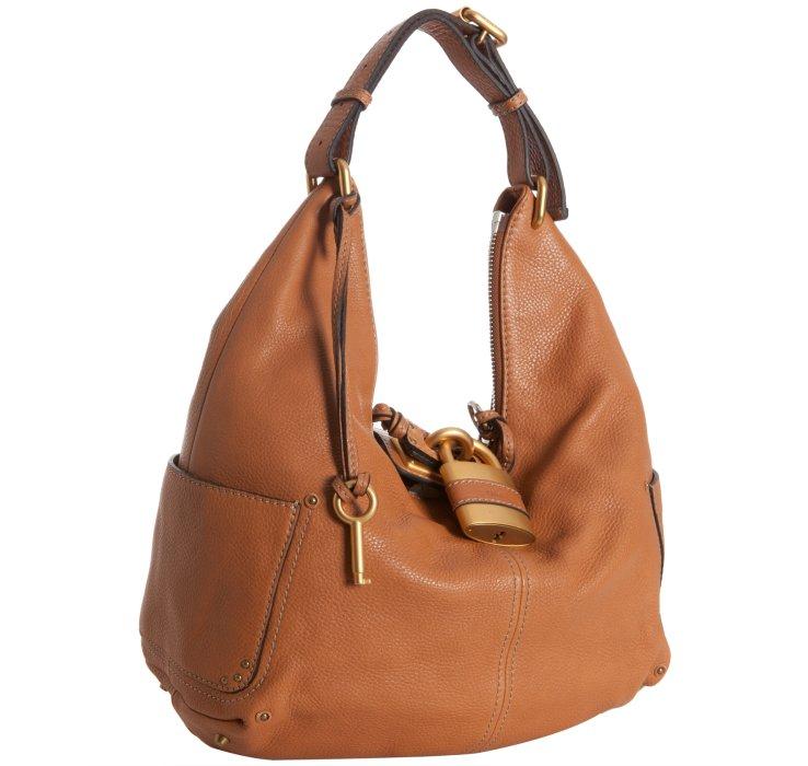 Chlo�� Tan Leather Paddington Lock Hobo in Brown (tan) | Lyst