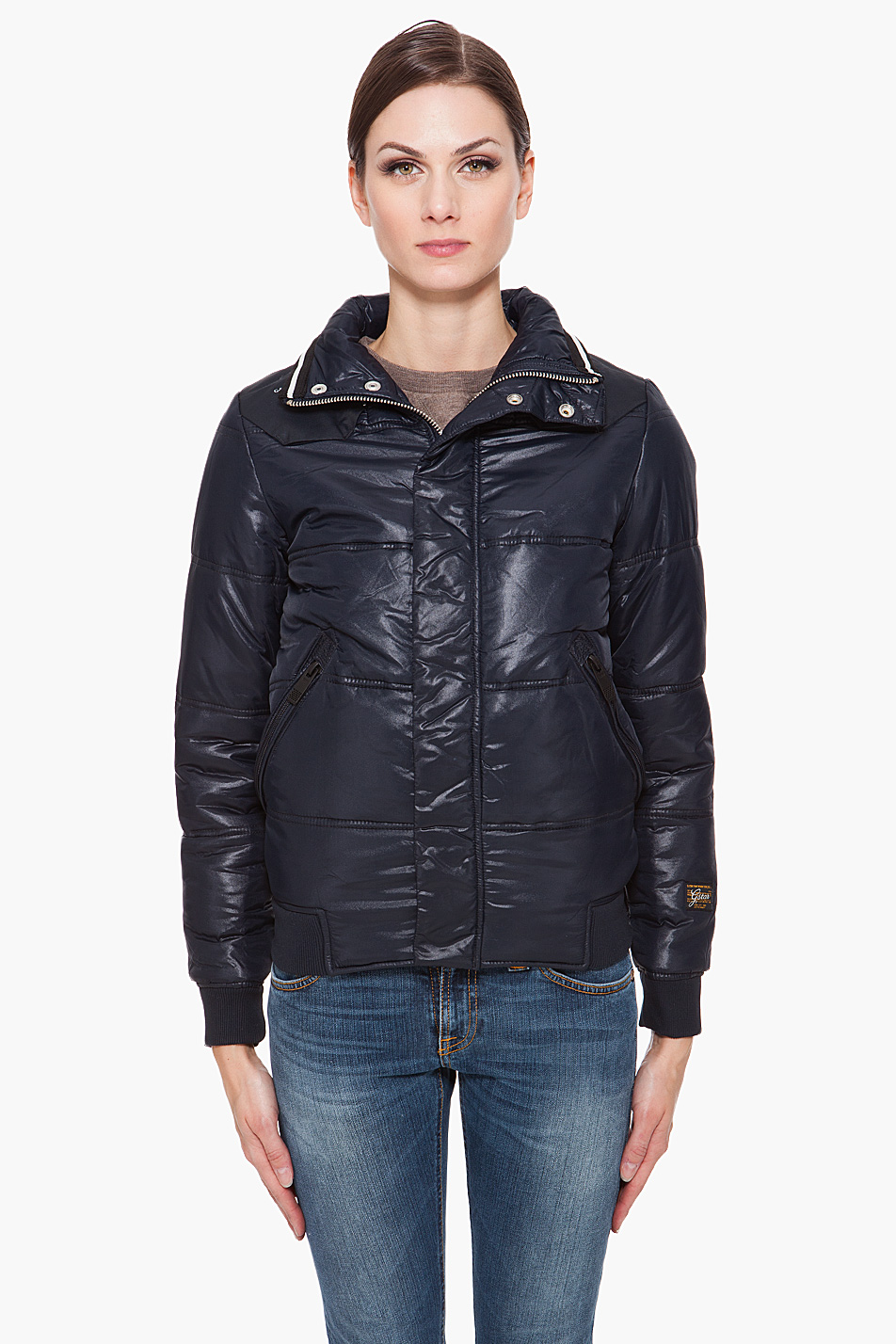 lyst g star raw nordic whistler bomber jacket in blue. Black Bedroom Furniture Sets. Home Design Ideas