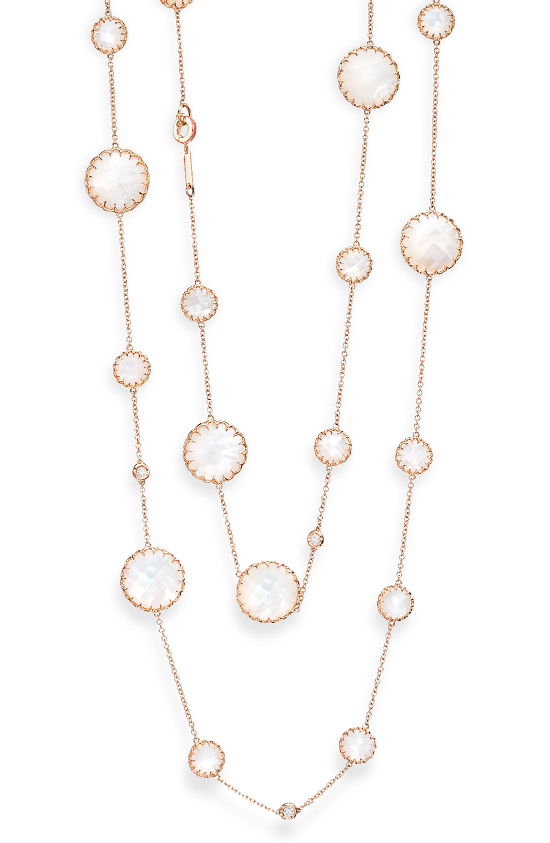 Ivanka Trump Rose Gold Long Station Chain Necklace In Gold