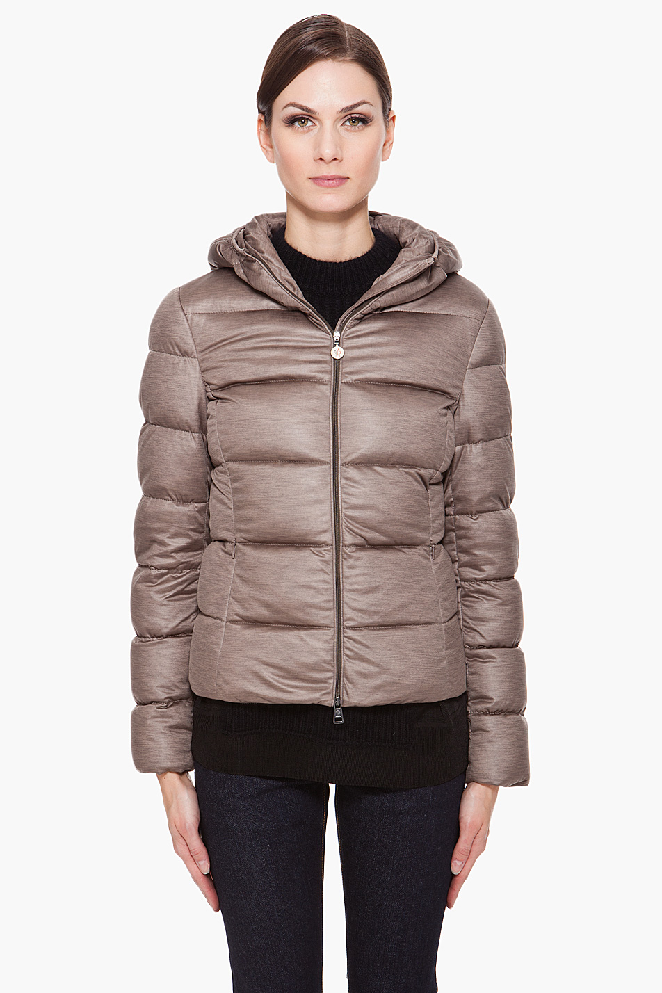 72aef3c7d Moncler Gray Hooded Jersey Jacket