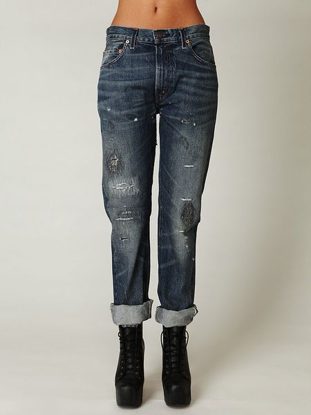 Free People Levis Lvc 505 Straight Leg in Blue (light)