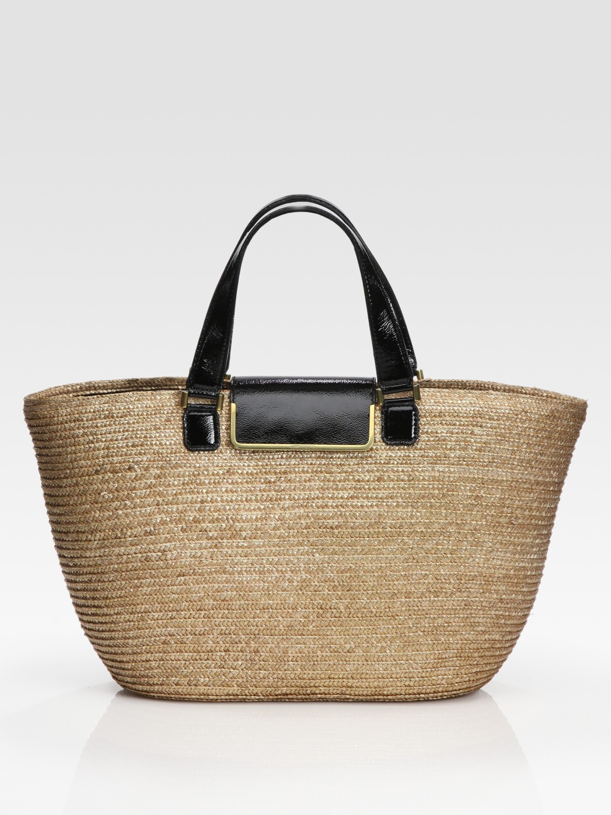 Jimmy choo Straw Tote Bag in Natural | Lyst