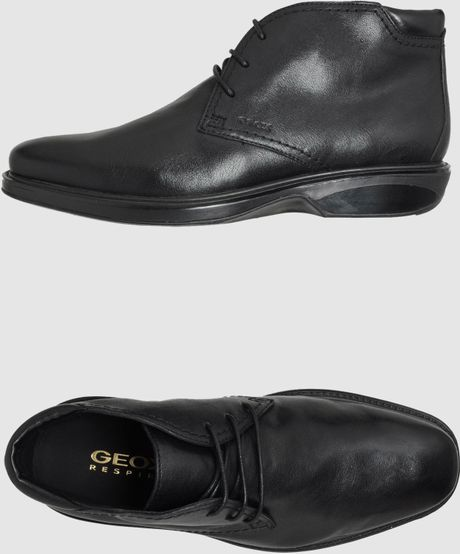 geox high top dress shoes in black for lyst