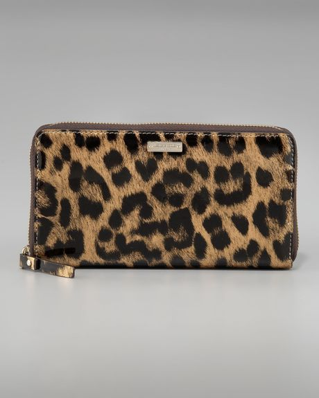 Kate Spade Leopard-print Lacey Wallet In Animal (leopard