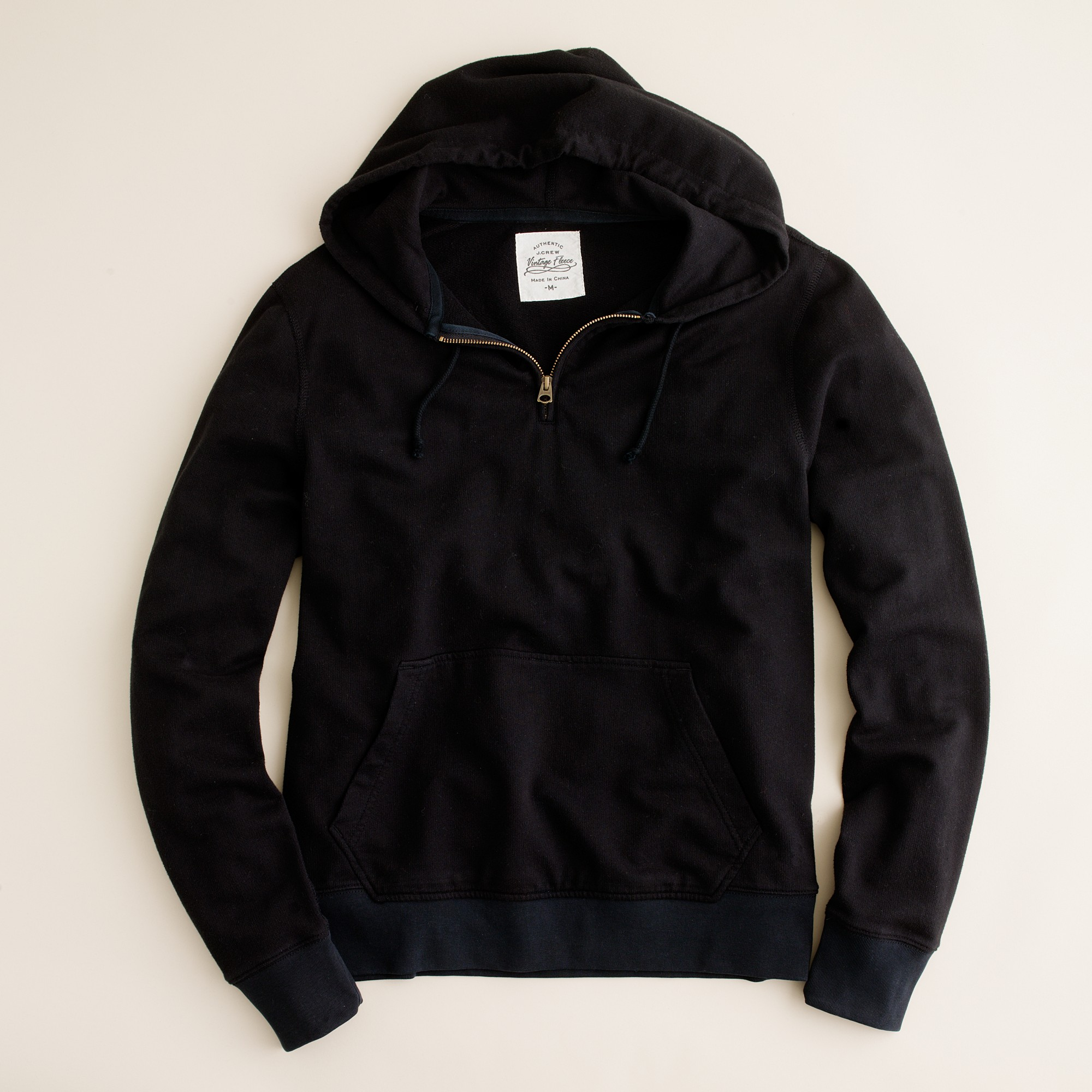 J.crew Half-zip Hoodie in Black for Men | Lyst