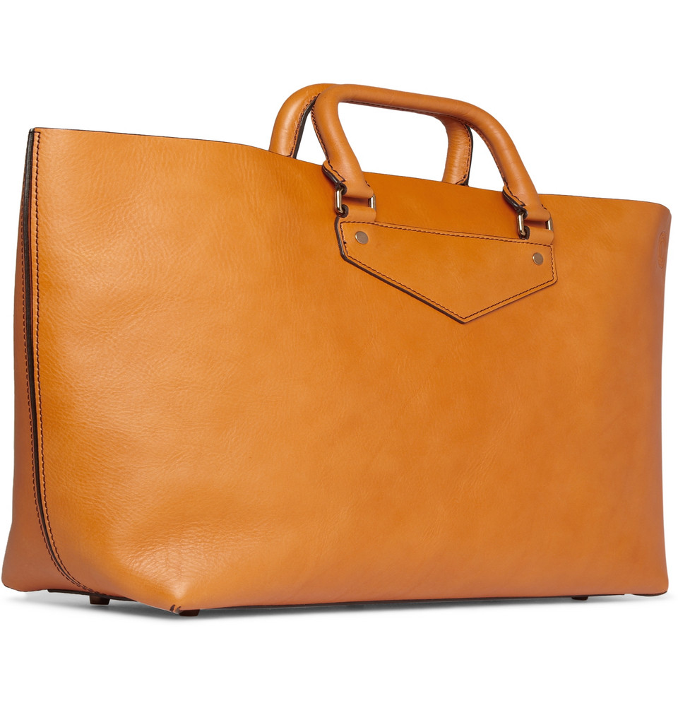 Burberry prorsum Leather Tote Bag in Orange for Men | Lyst
