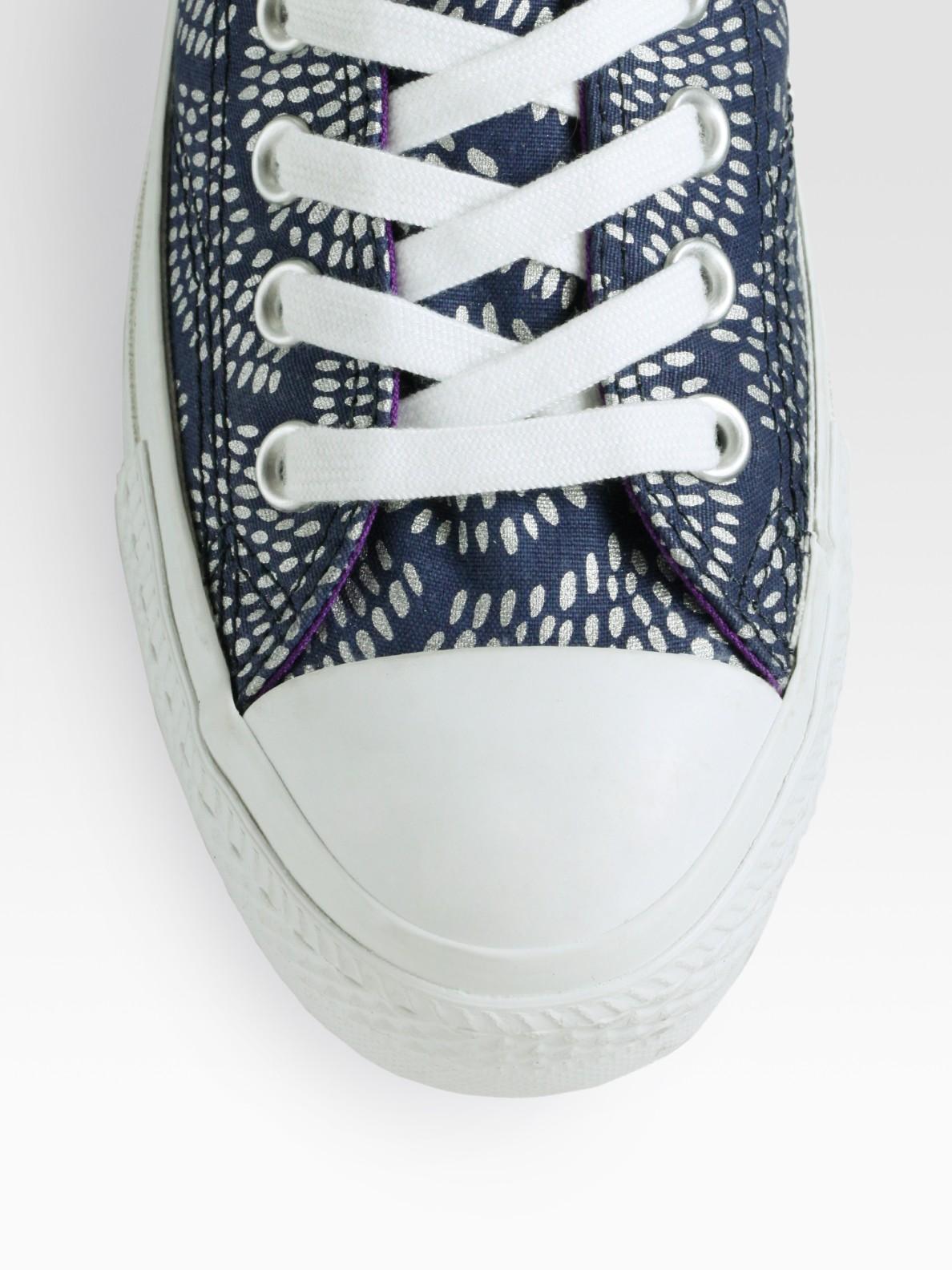 Lyst - Converse Marimekko Chuck Taylor Printed Sneakers in Blue 3fa27aa2d