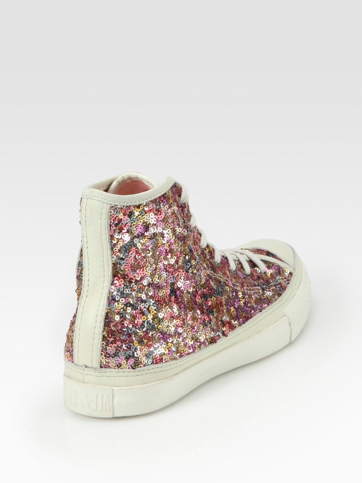 converse glitter high tops