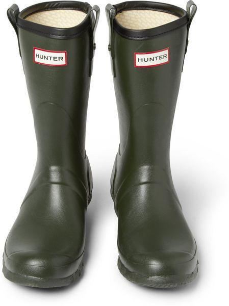 Hunter Short Wellington Boots In Green For Men Lyst