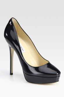 Jimmy Choo Cosmic Patent Leather Platform Pumps - Lyst