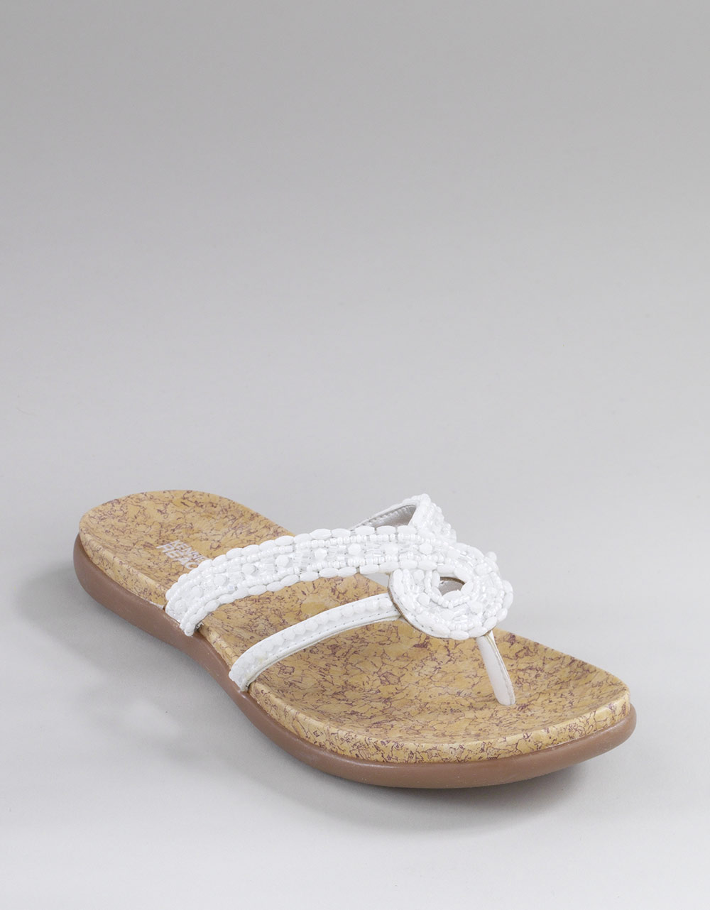 b5286fd65f64fb Lyst - Kenneth Cole Reaction Glam Life Beaded Sandals in White