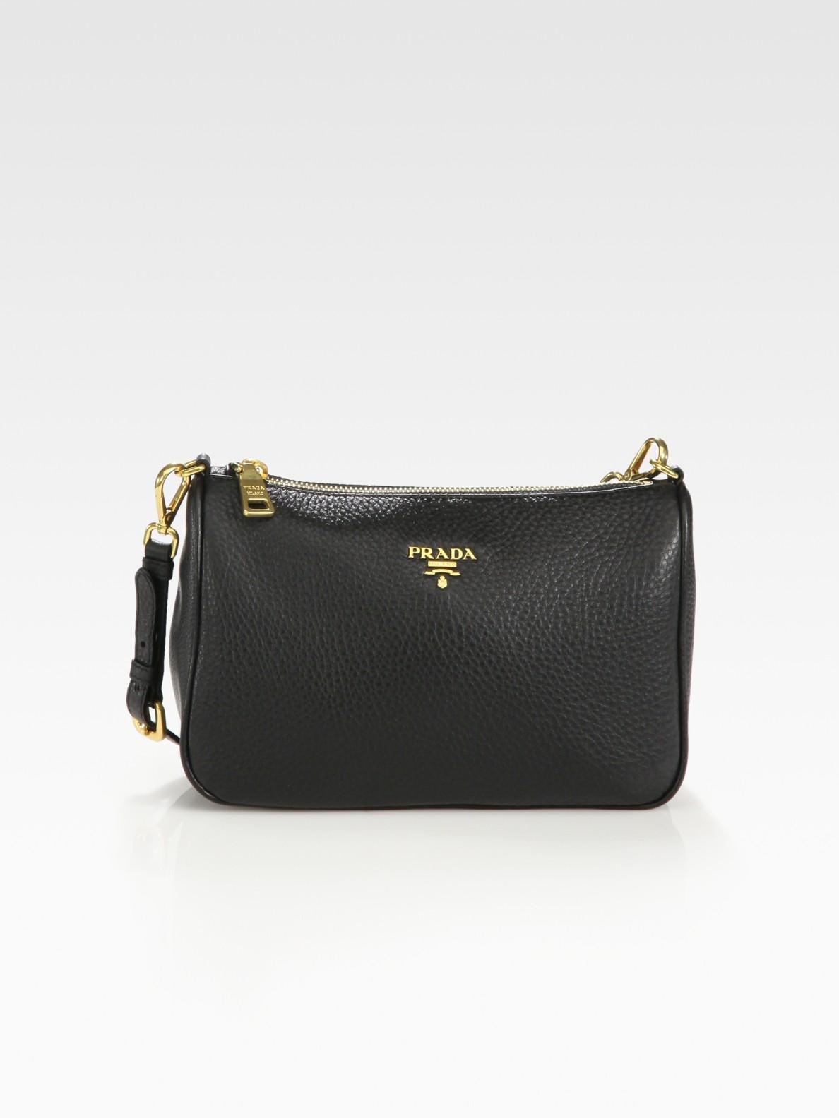 c758dd42cecd ... sale lyst prada daino mini hobo bag in black 0c45b 3575d