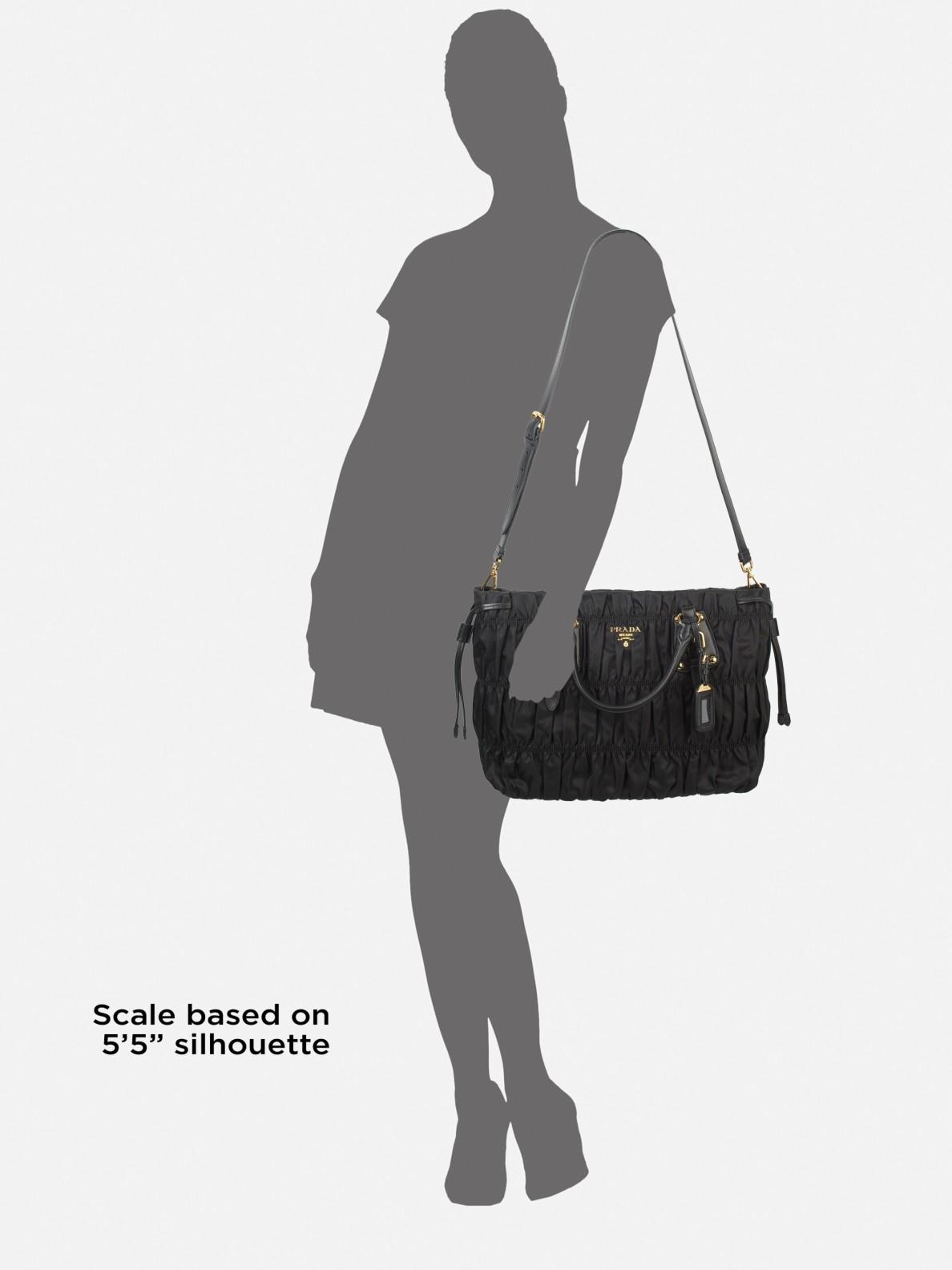 cb59d338018 ... good lyst prada tessuto gaufre tote bag in black d8bd4 05f99