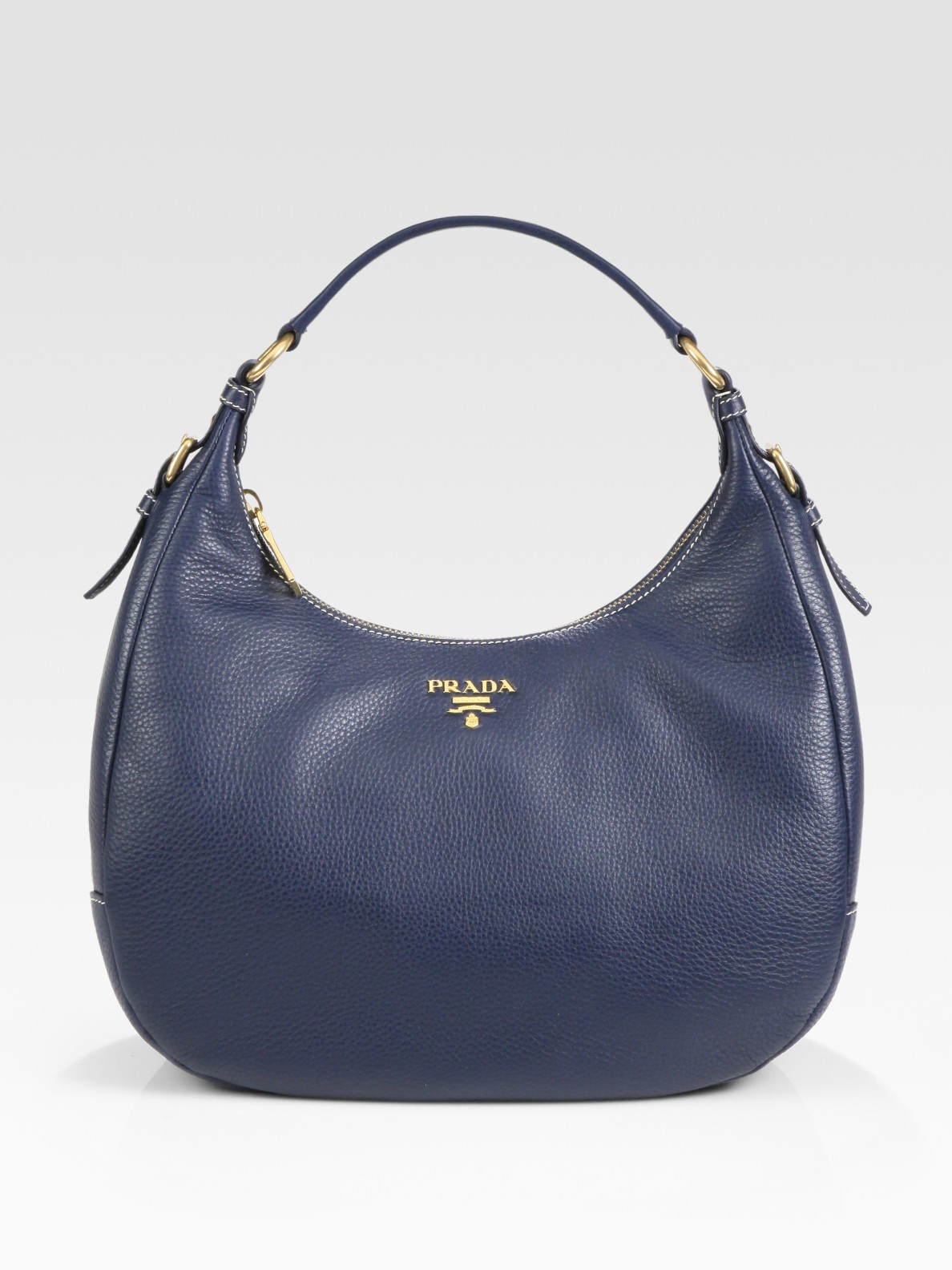 1be295298aa6 Lyst - Prada Vitello Daino Small Hobo in Blue