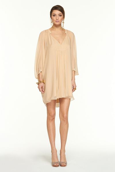 Dvf Fleurette Dress On Sale Fleurette Dress in Beige