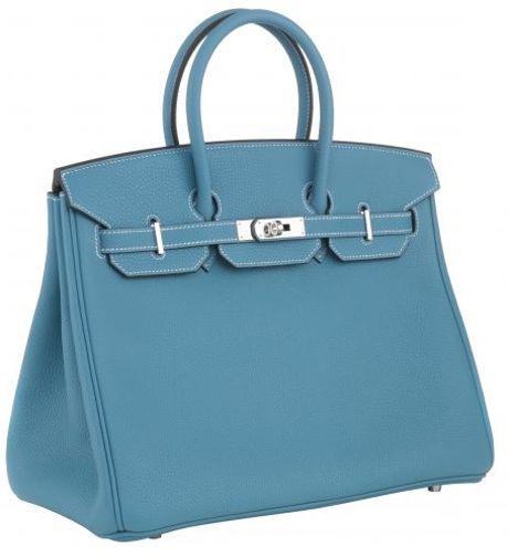Hermès 35cm Birkin Blue Jean Togo With Phw in Blue