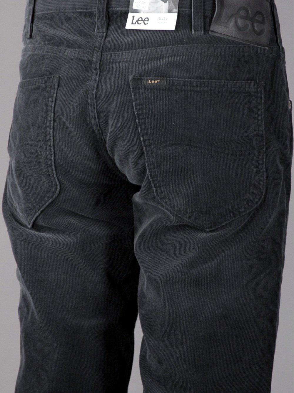 Lee Jeans Blake Corduroy Jeans In Black For Men Lyst