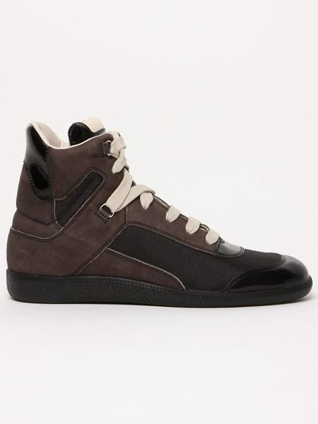 maison martin margiela 22 mens bleached effect sneaker in brown for men black lyst. Black Bedroom Furniture Sets. Home Design Ideas