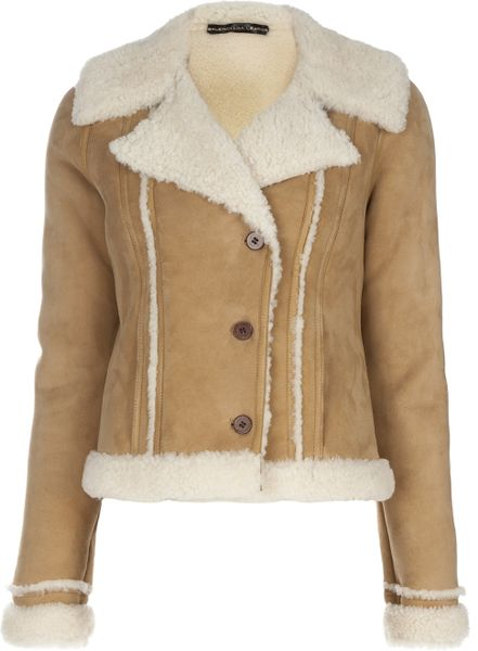 Balenciaga Shearling Jacket in Beige