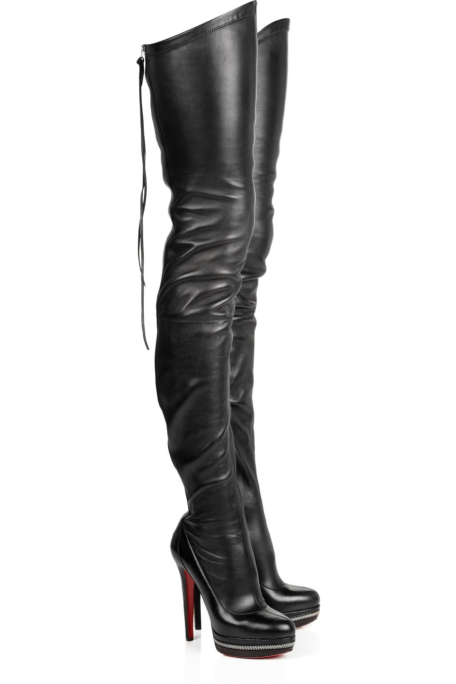 Christian Louboutin Unique 140 Leather Boots In Black - Lyst-7548