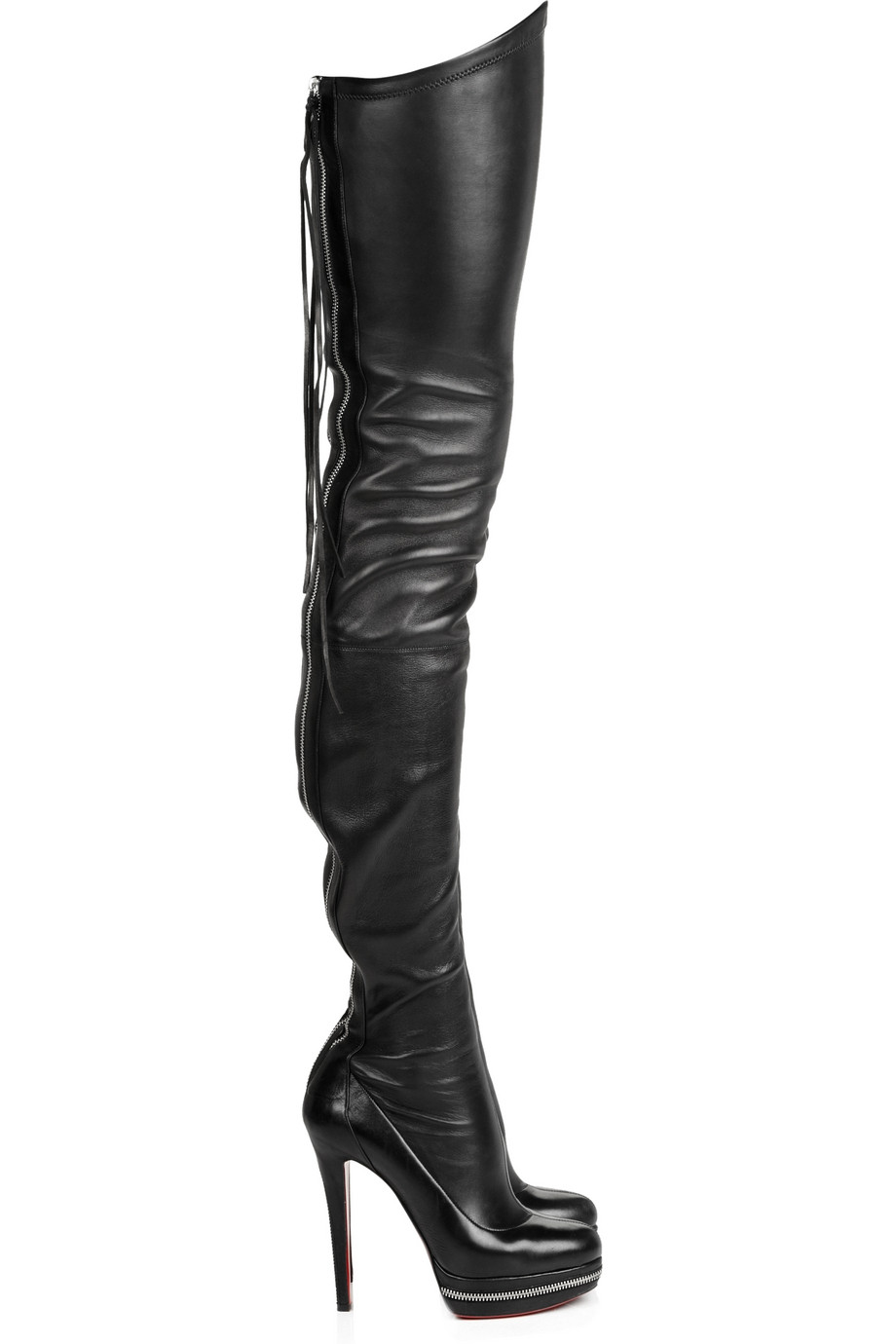Christian Louboutin Unique 140 Leather Boots In Black Lyst
