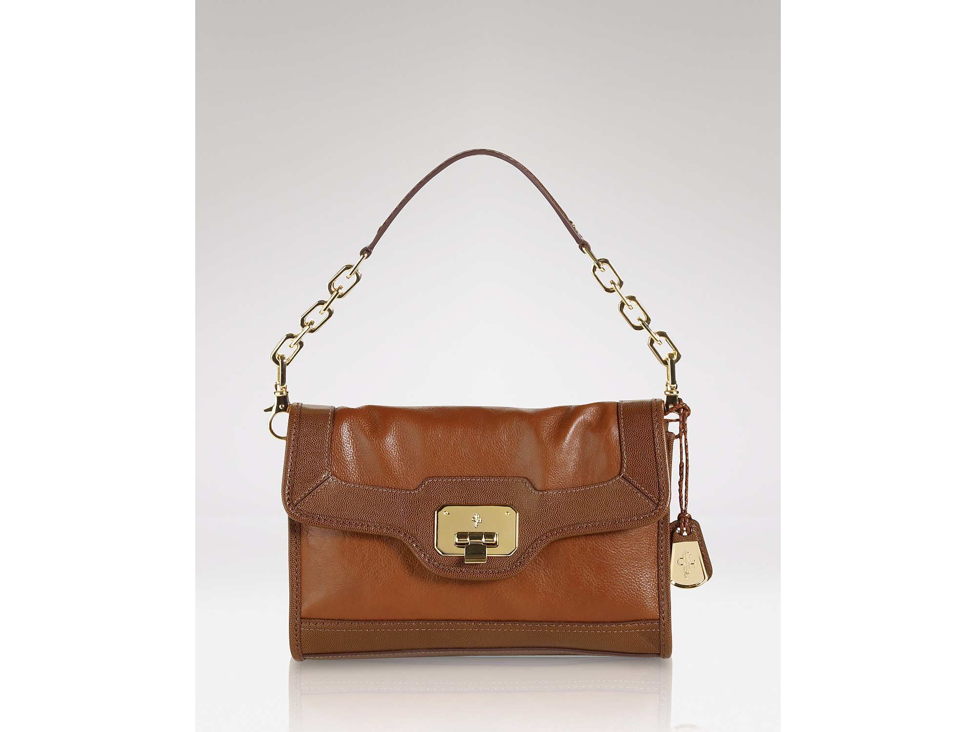 fc7889abe Cole Haan Vintage Valise Jenna Small Shoulder Bag in Brown - Lyst