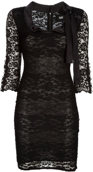 D&g Lace Dress in Black - Lyst