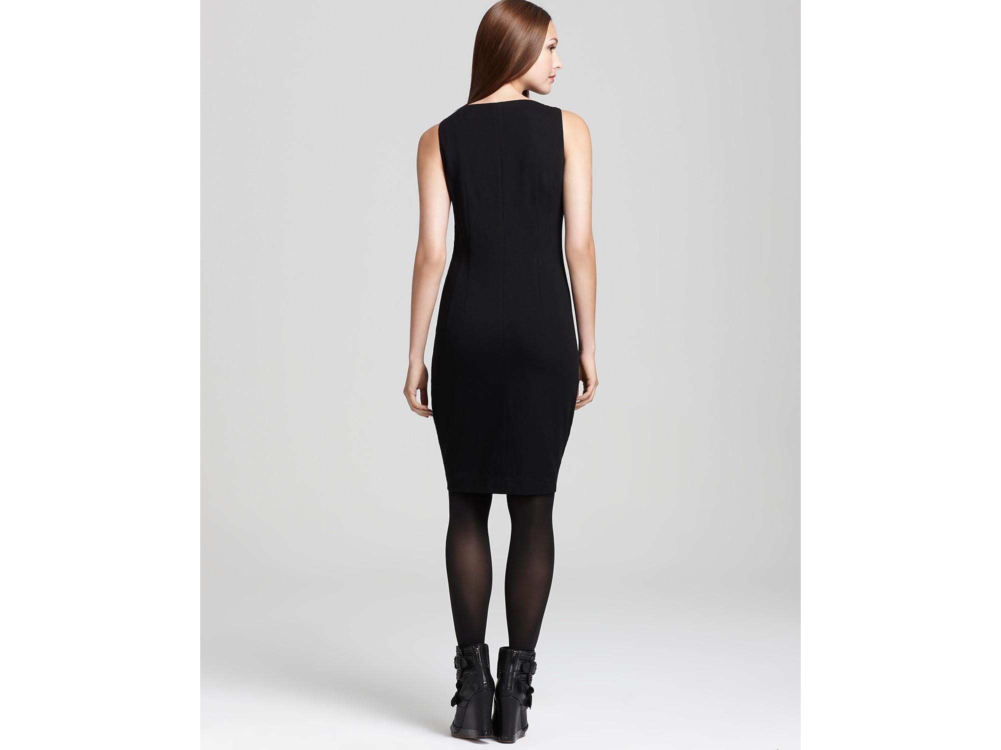 Dkny C Sheath Dress With Exposed Side Zipper In Black Lyst