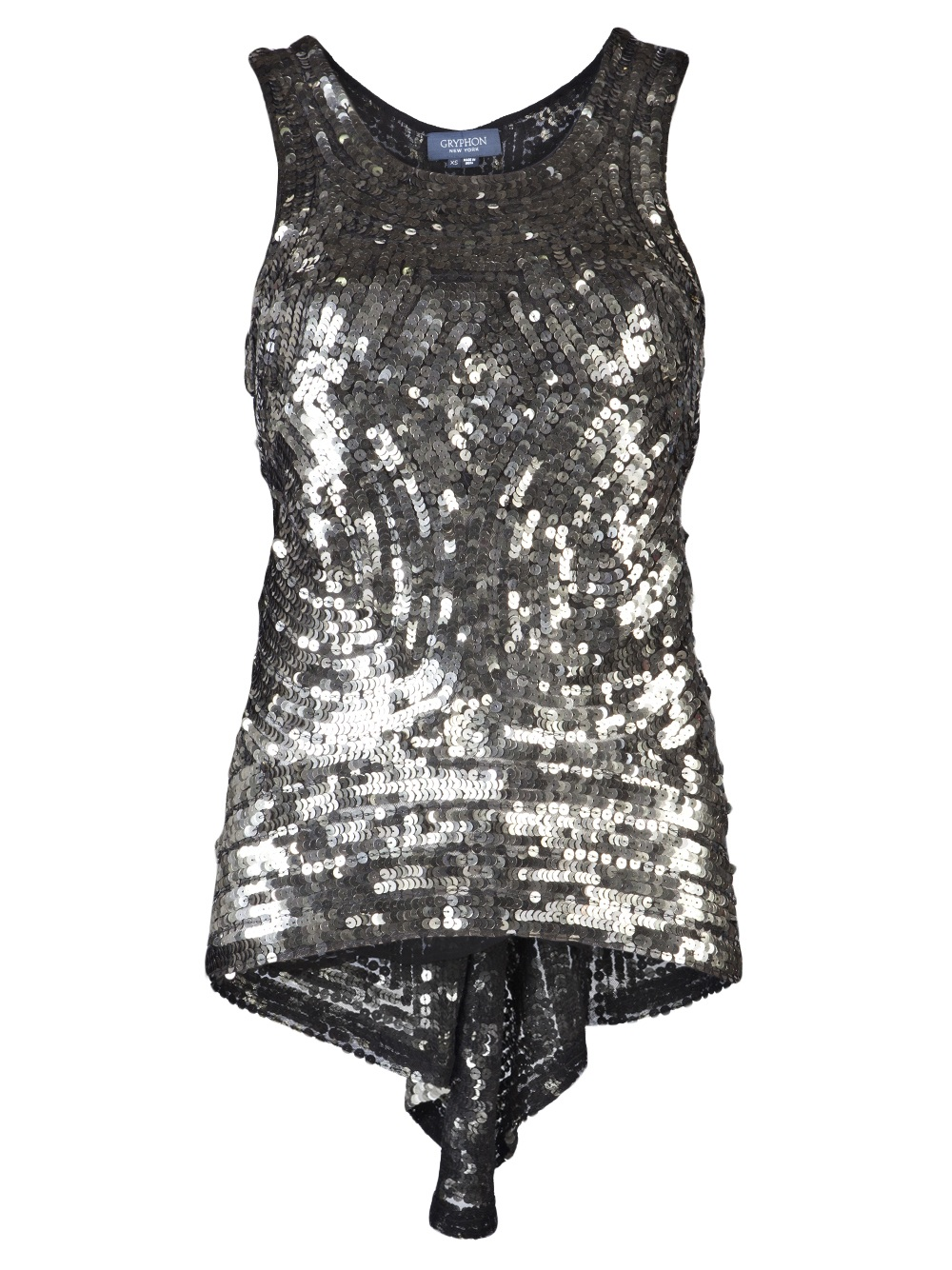 34f9f51aa1058 Gryphon Sequin Party Shirt in Metallic - Lyst