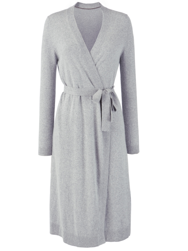 John Lewis Cashmere Dressing Gown in Gray