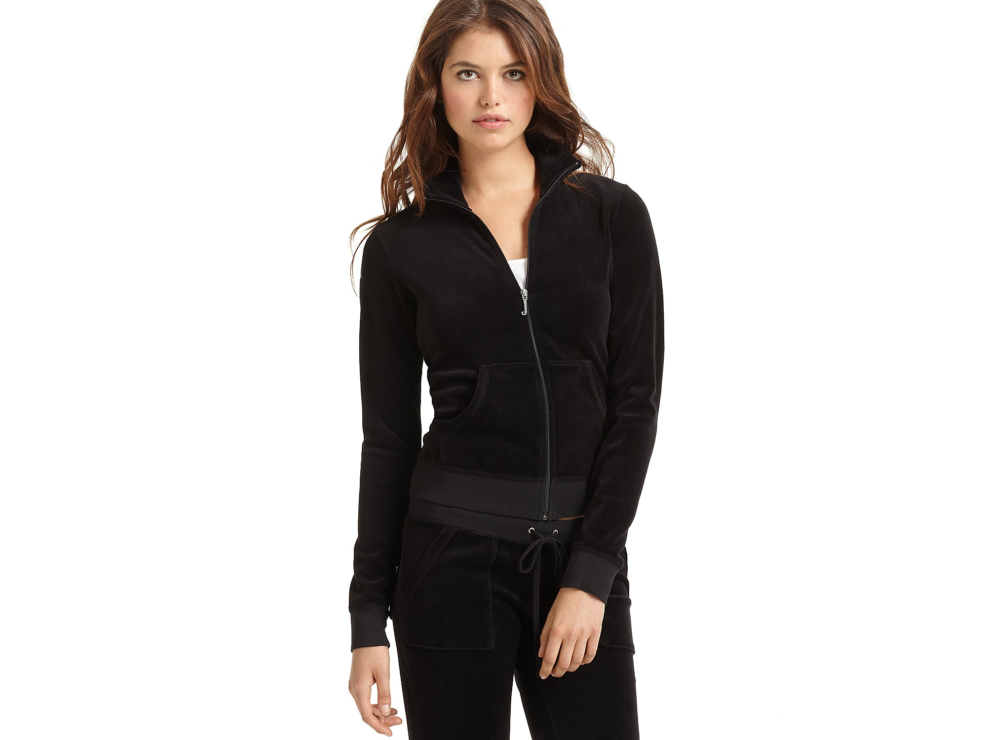 007b8d53d2ce Lyst - Juicy Couture Velour Track Jacket in Black in Black