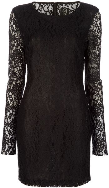 Mcq By Alexander Mcqueen Lace Dress in Black