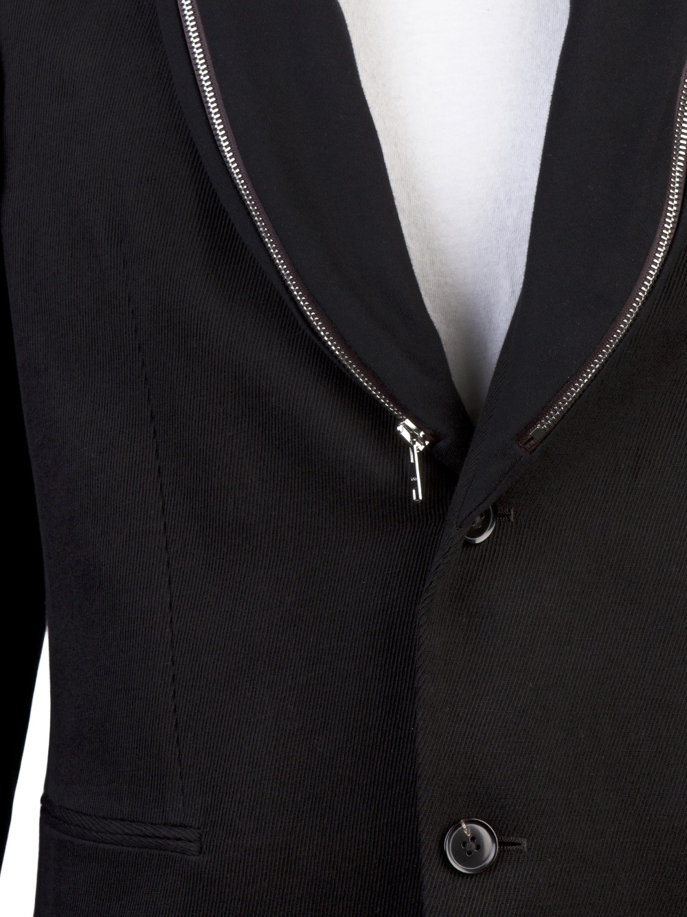 Paul Smith Zipper Shawl Collar Jacket in Black for Men