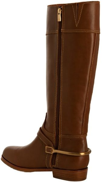 Pour La Victoire Cognac Leather Marne Tall Boots In Brown