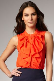 Rachel Roy Ruffled Silk Blouse - Lyst