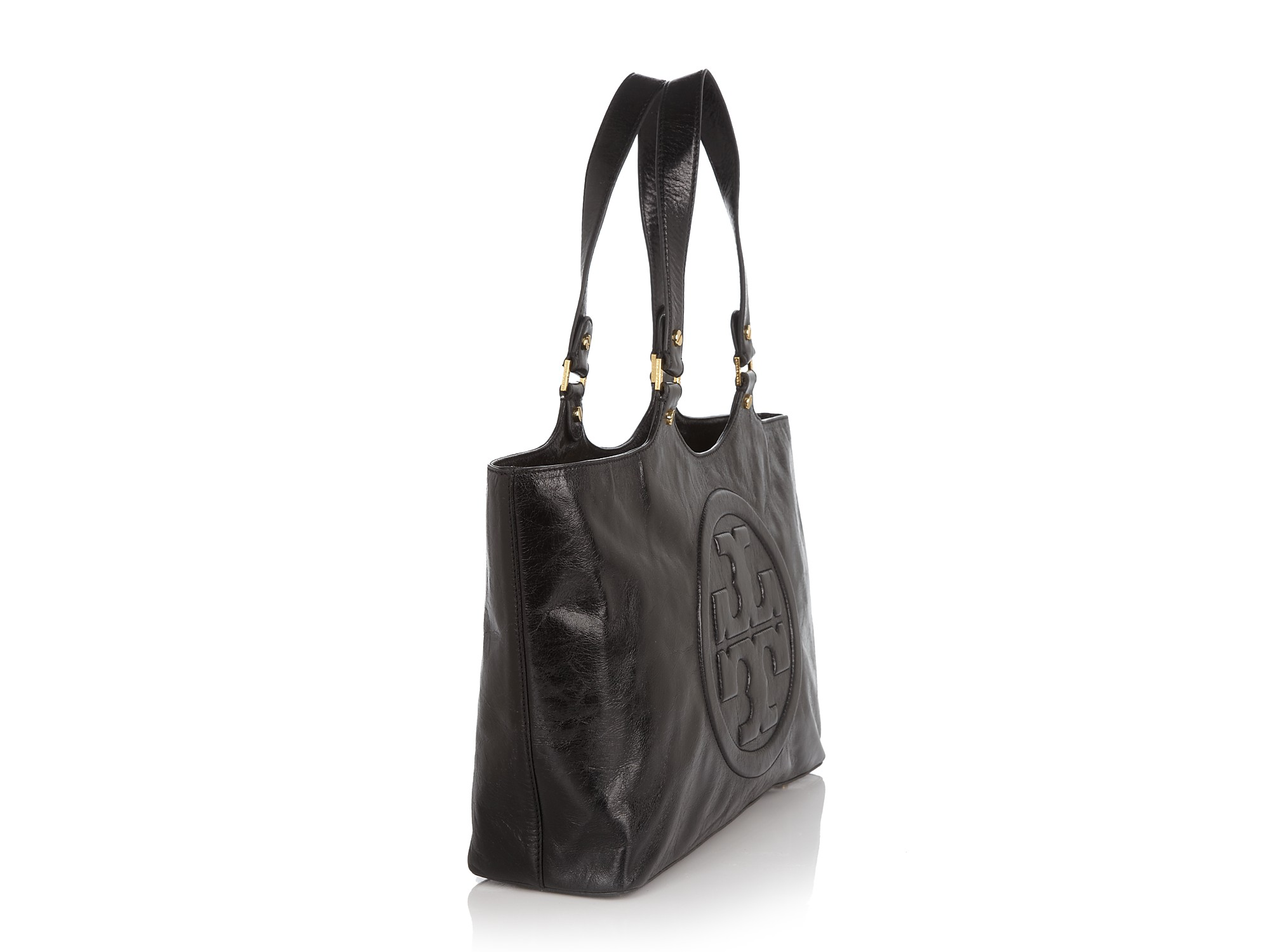 52eea633c0e Lyst - Tory Burch Burch Bombe Leather Tote in Black